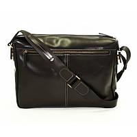 Кожаная мужская сумка Mk33 черная