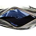 Кожаная мужская сумка Mk33 черная, фото 7