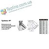 Трійник-сендвіч 45° для димоходу d 160 мм; 0,5 мм; AISI 304; нержавійка/оцинкування - «Версія-Люкс», фото 2
