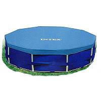 Тент 28030 для круглых каркасных бассейнов, диаметр 305см, в кор-ке, 25,5-23-11см Intex (BOC036642)