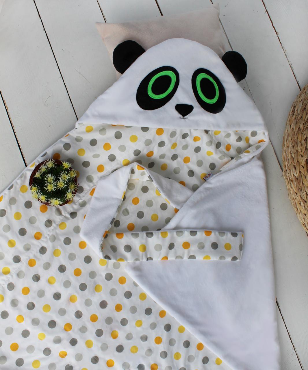 """Летний конверт на выписку """"Панда"""", фото 1"""