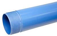 Труба для скважин обсадная нПВХ 6/125/5000мм (синяя)
