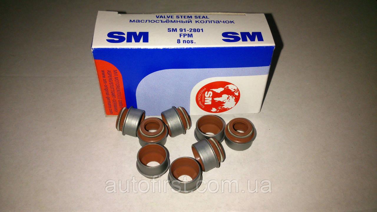 SM 91-2801 Сальники клапанов ВАЗ 2101-21099, ЗАЗ, ГАЗ 406 (Германия)