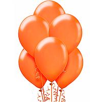 Воздушные шары  латексные оранжевые пастельные 30 см.