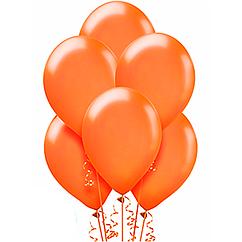 Шарики с гелием  30 см., оранжевый