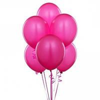 Воздушные шары  латексные малиновые 30 см.