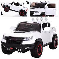 Детский электромобиль  Chevy Colorado M 3460 EBLR-1: 4х4, EVA, 2.4G, 9 км/ч, кожа - Белый-купить оптом