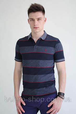 Мужская футболка поло  Ralph Lauren   в полоску, фото 2
