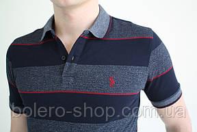 Мужская футболка поло  Ralph Lauren   в полоску, фото 3