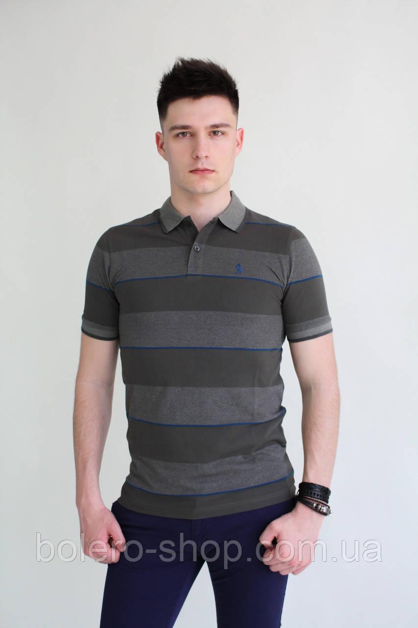 Мужская футболка поло Ralph Lauren в полоску - Магазин брендовой женской и мужской  одежды