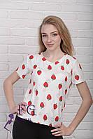 Летняя футболка «Клубника», фото 1