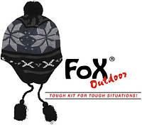 """Шапочка с флисовой подкладкой Fox Outdoor """"Peru Lima"""" синий/чёрный 10041A"""