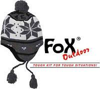 """Шапочка с флисовой подкладкой Fox Outdoor """"Peru Lima"""" белый/серый 10041B"""