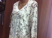Распродажа Блузка женская кремового цвета с ажуром  р-р 46-48