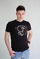 Мужская футболка черная с рисунком Armani