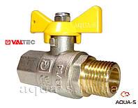 """Кран газовый шаровой полнопроходной (внутренний-наружный) DN 1/2"""" Valtec VALGAS"""