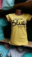 Модная футболка для девочек 158,164,170,176 роста Blue