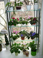 Стеллаж оконный-1, подставка для цветов на 3 полки, фото 1