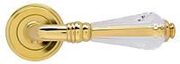 Ручка дверная на розетке Mariani Crystal swarovski латунь полированная (Италия)