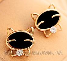 Сережки гвоздики Усміхнені Кошенята