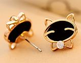 Сережки гвоздики Улыбающиеся Котята, фото 3