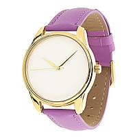 """Часы наручные """"Минимализм"""" золото фиолетовый"""
