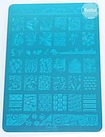 Пластина для стемпинга НК-06 (14см / 9см), фото 1