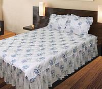 Покрывало на кровать 180Х210 «Sunny Day» с рюшами Цветы