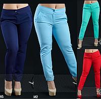 Яркие брюки с подворотами большой размер