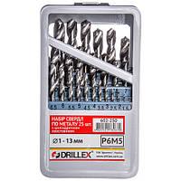 Набор сверл по металлу Р6М5  25шт. 1.0-13.0мм СНГ НСВ2513 (Украина)