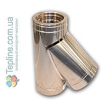Трійник-сендвіч 45° для димоходу d 100 мм; 1 мм; AISI 304; нержавійка/оцинкування - «Версія-Люкс», фото 3