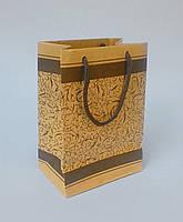 Пакет из бурого крафта с рисунком №1 (125*175*80)