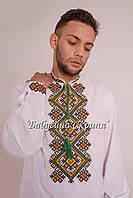 Заготовка чоловічої сорочки для вишивки нитками бісером БС-114ч білий 2a0002b312a53