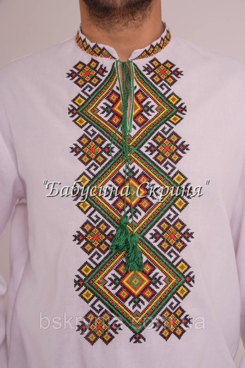 Заготовка чоловічої сорочки для вишивки нитками бісером БС-114ч ... 3d01130d212d1