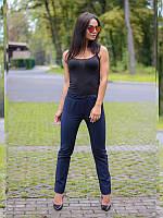 Брюки синие прямые , классические брюки