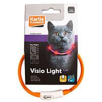 Ошейник Karlie-Flamingo Visio Light Led для кошек, светоотражающий, 35 см