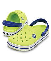 Детские Крокс Крокбенд оригинал, США, Crocs Citrus & Sea Blue Crocband