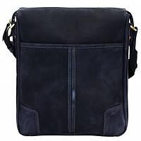 Кожаная мужская сумка – планшет Mk10 синяя