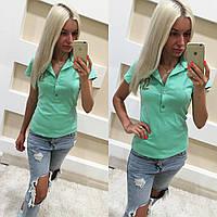"""Женская футболка с воротником """"Поло"""",4 цвета"""