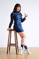 Короткое джинсовое платье на пуговицах LEVANTE