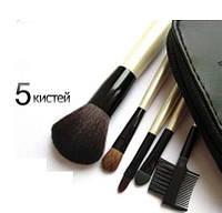 Набор кистей для макияжа  5 штук в чехле