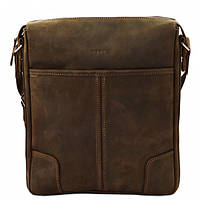 Кожаная мужская сумка – планшет Mk10 коричневая