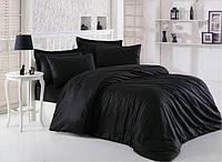 Черное постельное белье без рисунка