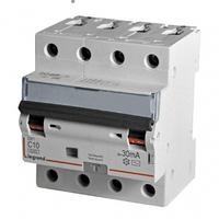 Дифференциальный автомат DX3 4П С 10A 30мА - АС (6kA) Legrand Легранд