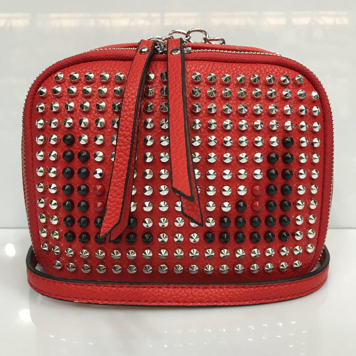 9135ca3e1933 Cумка клатч 2225 женская с шипами с плечевым ремнем разные цвета красный -  Shoppingood в Харькове