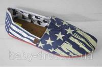 """Стильные мужские  эспадрильи в  расцветке """"Американский флаг""""  39,40,41,42р."""