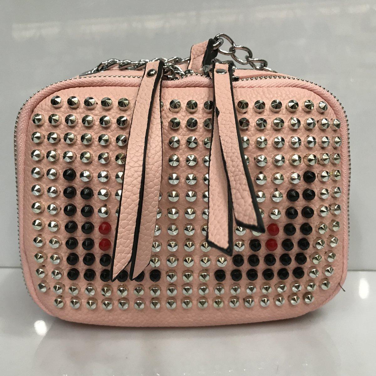 6b051c1f6049 Cумка клатч 2225 женская с шипами с плечевым ремнем разные цвета розовый -  Shoppingood в Харькове