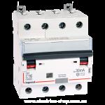 Дифференциальный автомат DX3 4П С 16A 30мА - АС (6kA) Legrand Легранд