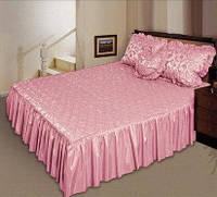 Покрывало для кровати «Романс» 210х180 Атлас розовый