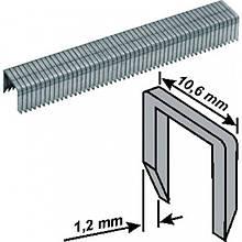 Скобы закаленные Профи, широкие, прямоугольные, со скосом 10 мм 500 шт.
